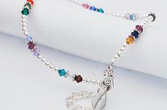 Together We Will Win® Ankle Bracelet with Swarovski® Crystals   Choose Hope