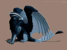 deviantART: More Like The Black Gryphon by rheall
