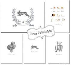 Easter-Printables-by-funkytime oster karten gratis downloads