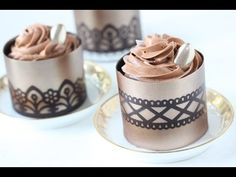 Video Release: How to Make Stenciled Chocolate Dessert Cups by Julia M Usher of Recipes for a Sweet Life