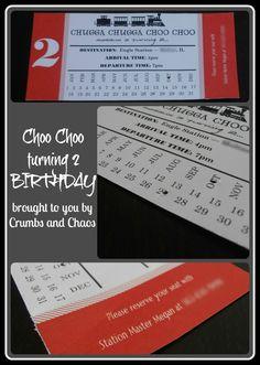 Choo Choo Train Birthday Party