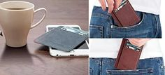 A slim wallet you can fit in the pocket of your jeans without it bulging out and ruining your look Cool Gifts For Women, Crazy Horse, Slim Wallet, Funny Gifts, Weird, Minimalist, Hacks, Gift Ideas, Pocket
