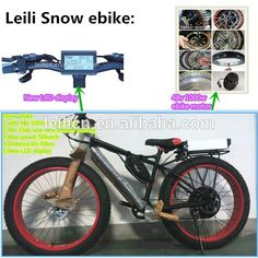 Changzhou Leili 26'' Or 20'' Electric Fat Tire Bike With In-wheel 500w Motor For…