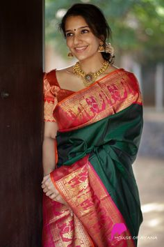 Kanchipuram Silk Sarees Shop in Chennai Bridal Kanchipuram Sarees - House of Ayana Saree Jacket Designs Latest, Wedding Saree Blouse Designs, Pattu Saree Blouse Designs, Blouse Designs Silk, Saris, Silk Sarees, Silk Lehenga, Bridal Silk Saree, Indian Bridal Lehenga