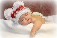 Baby Boy or Girl Hat XMAS Baby Girl/Boy Crochet by jerribeccahats, $18.99