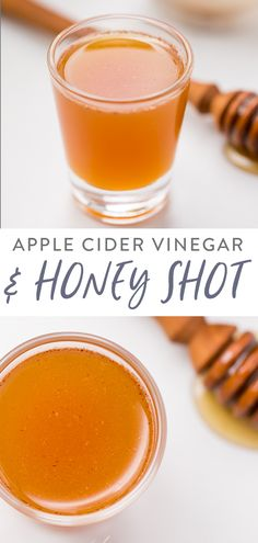 This apple cider vinegar and honey shot is a tasty, super powerful elixir that can aid digestion, help with allergies, ward off sickness, rev up metabolism and more. Spiced Apple Cider, Apple Cider Donuts, Natural Sleep Remedies, Cold Home Remedies, Natural Cures, Natural Health, Health Remedies, Homeopathic Remedies, Natural Skin