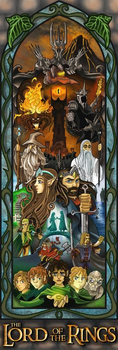 The Lord of the Rings movie poster by Justin Oden
