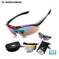 735a7e1845 ROBESBON Sport Bike Bicycle Men Women Polarized Sunglasses Goggles Glasses  Eyewear 5 Lenses Oculos Occhiali Ciclismo