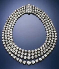 Diamond four strand rivière. Formerly in the collection of the Princes Von Thurn Und Taxis.: