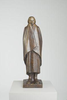 Ernst Barlach (1870-1938) - Frierendes Mädchen (1916)