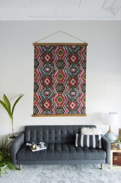 99 ways to use fabric to decorate your home | Create custom framed art