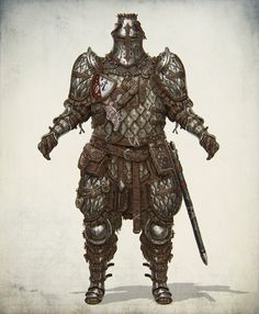 ArtStation - Lamellar heavy knight , Evgeniy Gottsnake