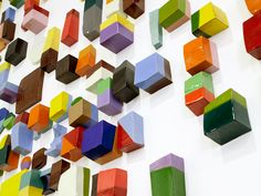 """""""Frammenti is a deliciously inspiring wall installation of 417 candy-coloured ceramics shapes by Argentine ceramicist Silvia Zotta."""""""