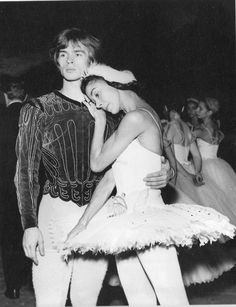 """Nureyev and Fonteyn -- Swan Lake, Paris, 1963. In Vienna, in October 1964, Margot Fonteyn and Rudolf Nureyev received 89 curtain calls at the end of """"Swan Lake"""" - a record for curtain calls which remains unequalled to this day, and which is still in the Guinness Book of World Records!"""
