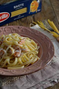 ricetta bavette con salmone e crema di robiola| Dolce e Salato di Miky