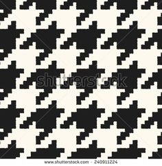 houndstooth seamless pattern black and white vector  - stock vector