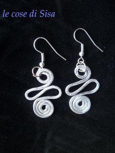 aluminum: handmade earrings