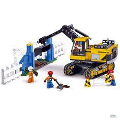 Costruzioni SCAVATORE CON CANTIERE mattoncini Sluban 0551 Per bambini