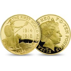 First World War Outbreak Gold Proof Five-Ounce Coin.