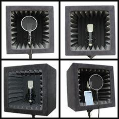 SnapRecorder - Portable Recording Studio | Home Recording Studio | Portable Recording Booth | Reflexion Filter | Home Recording Booth | Voice Over | Singing | Singers | Vocal Recording