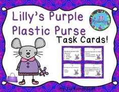 This task card activity is a great Literacy Center to use after the children have read Lilly's Purple Plastic Purse by Kevin Henkes!  The children can record their responses on the printable or in a reading response notebook.Included:16 Comprehension Task Cards1 Answer Sheet1 Teacher's edition answer sheet1 editable page to write your own questions!.