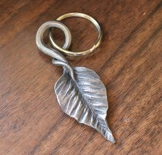 Handforged leaf Key Chain for Him or Her   by toughandtwisted, $22.00