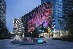 Aedas-designed urban complex Hong Leong City Center opens by Aedas Mall Facade, Facade House, Shop Facade, Amazing Architecture, Landscape Architecture, Architecture Design, New York Penthouse, Facade Lighting, Industrial Park