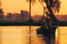 Fishing - Yellow Water billabong, Kakadu National Park. Copyright Tourism NT