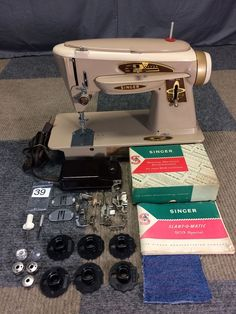 SERVICED WORKS PERFECTLY 1962 SINGER 503A ROCKETEER SLANT-O-MATIC SEWING MACHINE