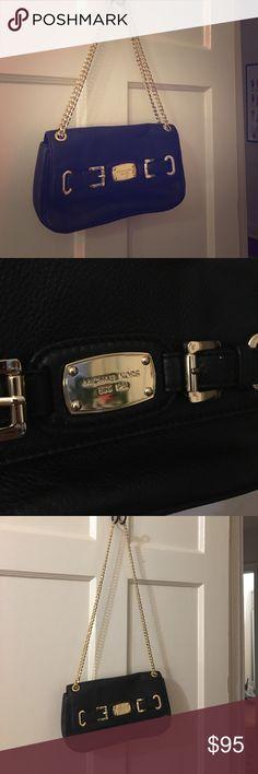 Michael Kors Black Leather Purse Michael Kors black leather shoulder/hand purse. Never used! Michael Kors Bags Shoulder Bags