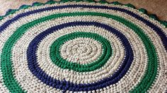 Crochet round baby blanket - thick and cozy - play mat - rug playmat etsy 36""