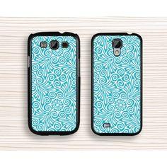 blue floral Samsung case,art samsung Note 4 case,paper-cut samsung Note 3 case,blue flower samsung Note 2 case,floral Galaxy S3 case,blue Galaxy S4 case,Galaxy S5 case