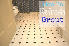 How to Refresh Grout - This works and lasts in an area with heavy traffic for a year.