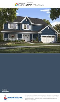 I Found This Color With Colorsnap Visualizer For Iphone By Sherwin Williams Indigo Exterior Paint
