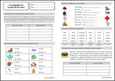 Fiche d'exercices sur le singulier et le pluriel du nom au format PDF