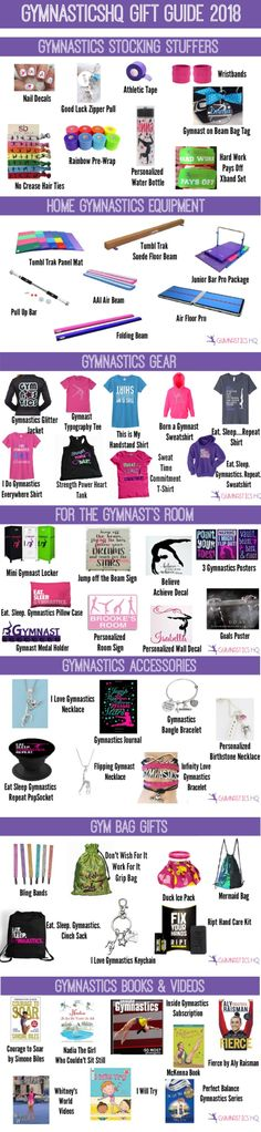 846dbf63bb The 2018 gift guide for gymnasts includes stocking stuffers, home equipment  to practice gymnastics, gear for the gym, room decorations, ...