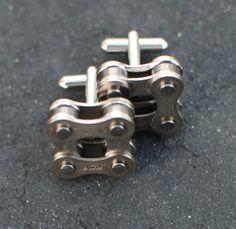 Bike chain cufflinks - Sweet!