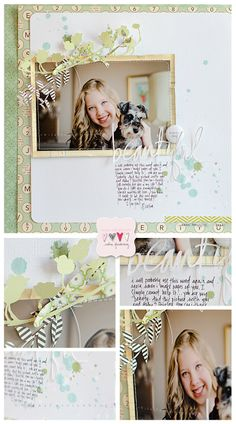 he{ART}: A really lovely layout; love the die cuts