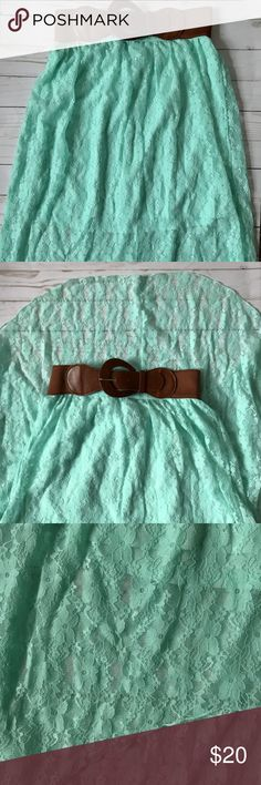 Beautiful, Teal, Lace Skirt NEVER WORN! If you like the country/western style, this is perfect for you! Such a pretty skirt, would be super cute with boots. No Boundaries Skirts