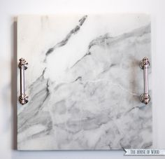 How To Make A DIY Marble Tray How To Make A DIY Marble Tray<br> Use an inexpensive marble tile to make an elegant DIY marble tray. A quick, easy, and inexpensive project that gives you a lot of bang for your buck! Trash To Couture, Diy Projects On A Budget, Diy Craft Projects, Craft Ideas, Project Ideas, Diy Ideas, Decor Ideas, Marble Tray, Marble Tiles