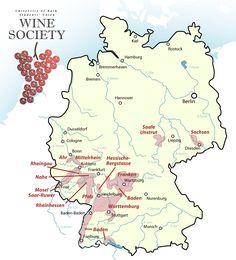 German Wine Map