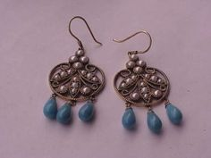 Vintage Gold Victorian Turquoise And Seeds Pearl Jewelry $910