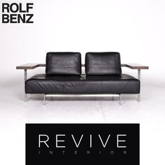 Rolf Benz Nova Designer Stoff Sofa Grau Zweisitzer Sofa Funktion