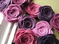 Pretty Wool Flowers