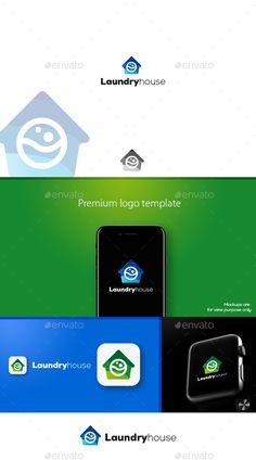 Laundryhouse Logo - Symbols Logo Templates Download here : https://graphicriver.net/item/laundryhouse-logo/20506765?s_rank=204&ref=Al-fatih