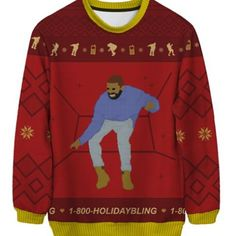 Wouldn't I be a hit w/ my kids' friends in this Holiday Bling Ugly Christmas Sweater!? #hotlinebling