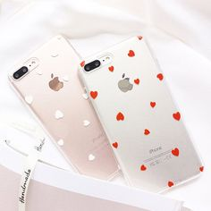 $1.99 - Fashion Clear Back Love Heart Rubber Soft Slim Case Cover For Iphone 7 6 6S Plus #ebay #Electronics