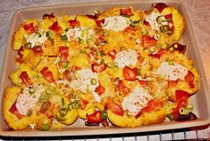 Ofenquetschkartoffeln - Rezept von Kerstins Kuechentraum Vegetable Pizza, Cauliflower, Bacon, Vegetables, Youtube, Food, Potatoes, Scalloped Potatoes With Cheese, Souffle Dish