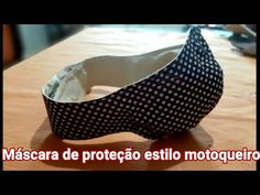 Como fazer uma máscara estilo motoqueiro, molde e costura. - YouTube