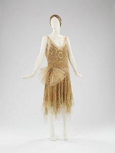 Ensemble, Evening House of Lanvin (French, founded 1889) Designer: Jeanne Lanvin (French, 1867–1946) Date: spring/summer 1923 Culture: French Medium: silk, metal, rhinestones